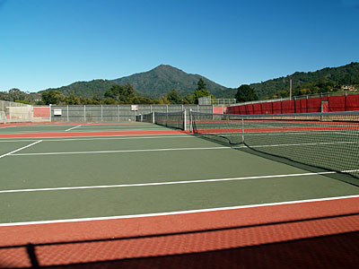 Tennis courts at Redwood